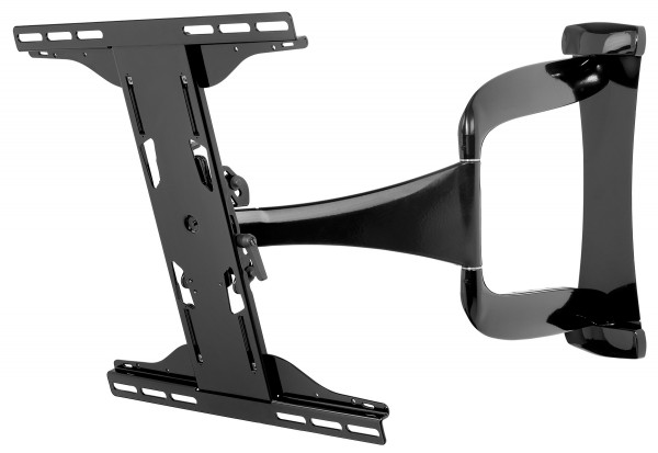 "Peerless Slimline Ultra Slim Full Motion Wall Mount for 32"" to 50"" left side view"